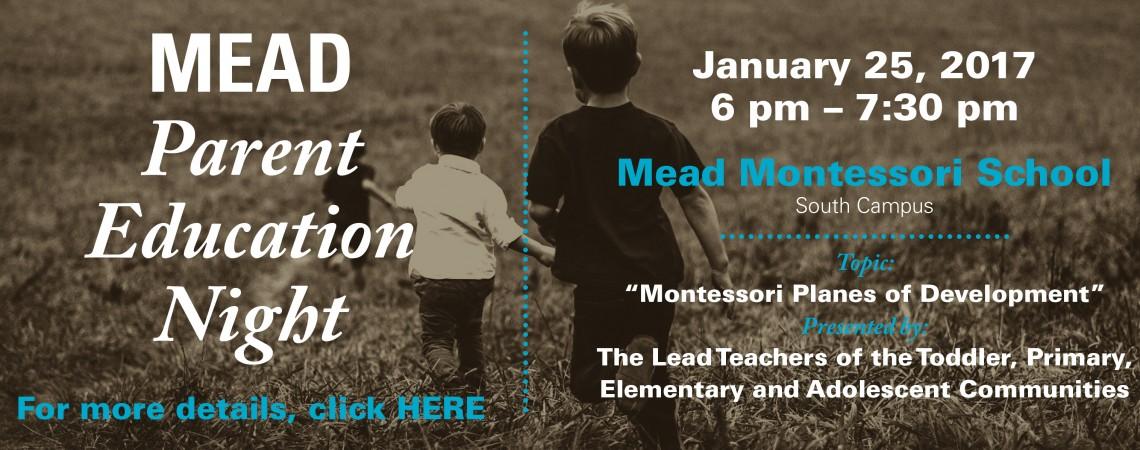 Parent Education Night 1/25/17