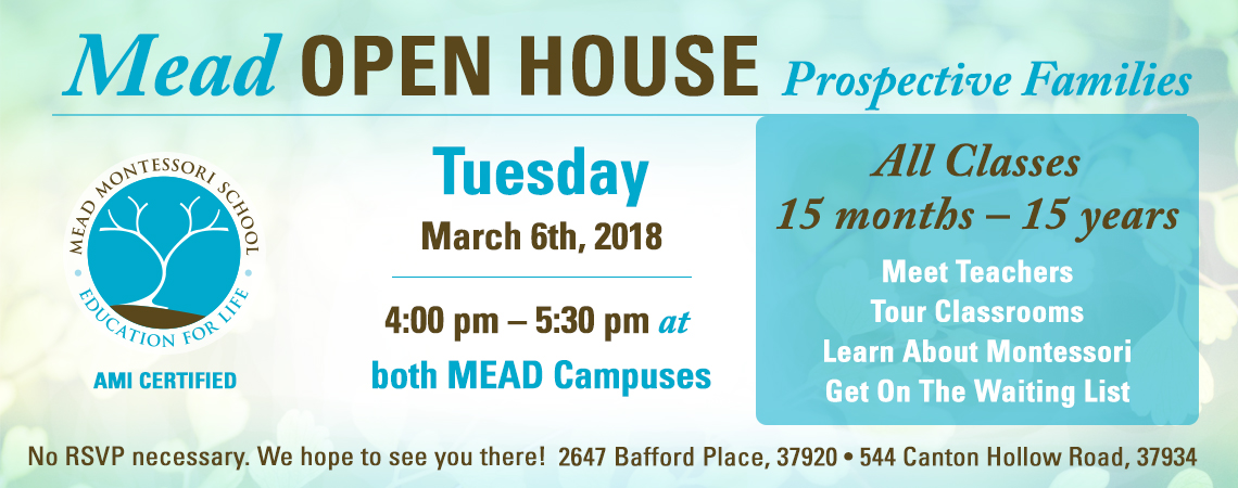 Open House for Prospective Families on 2/8/18